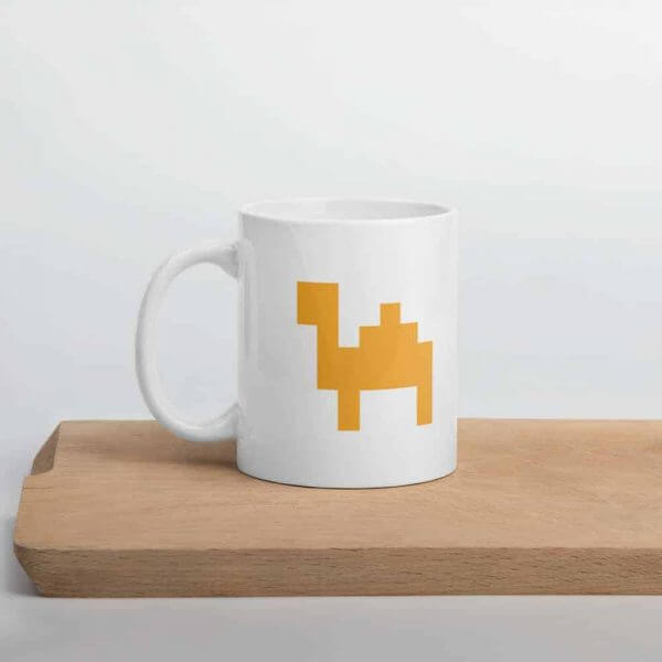 Mug in pixel optic for Nerds
