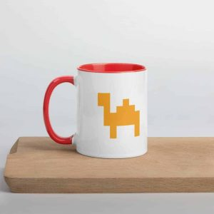 Mug for Arabic nerds in 80s pixel design
