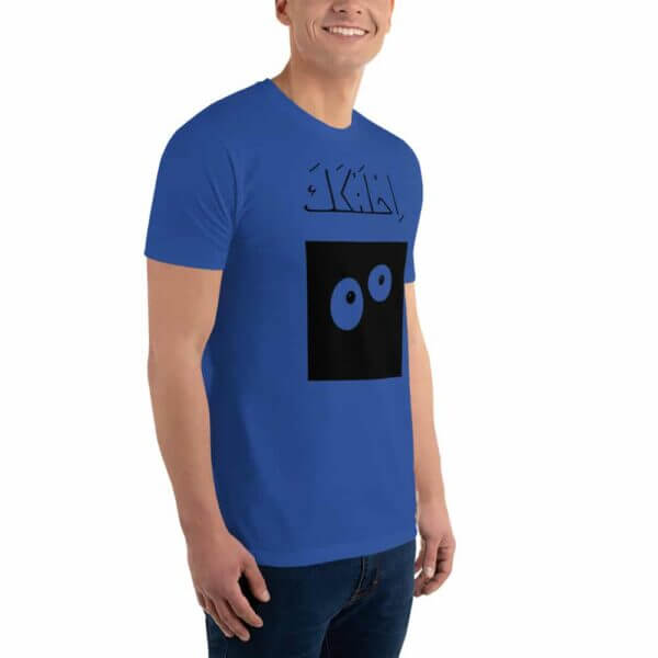 mens fitted t shirt royal blue right front 60fbff5d46924